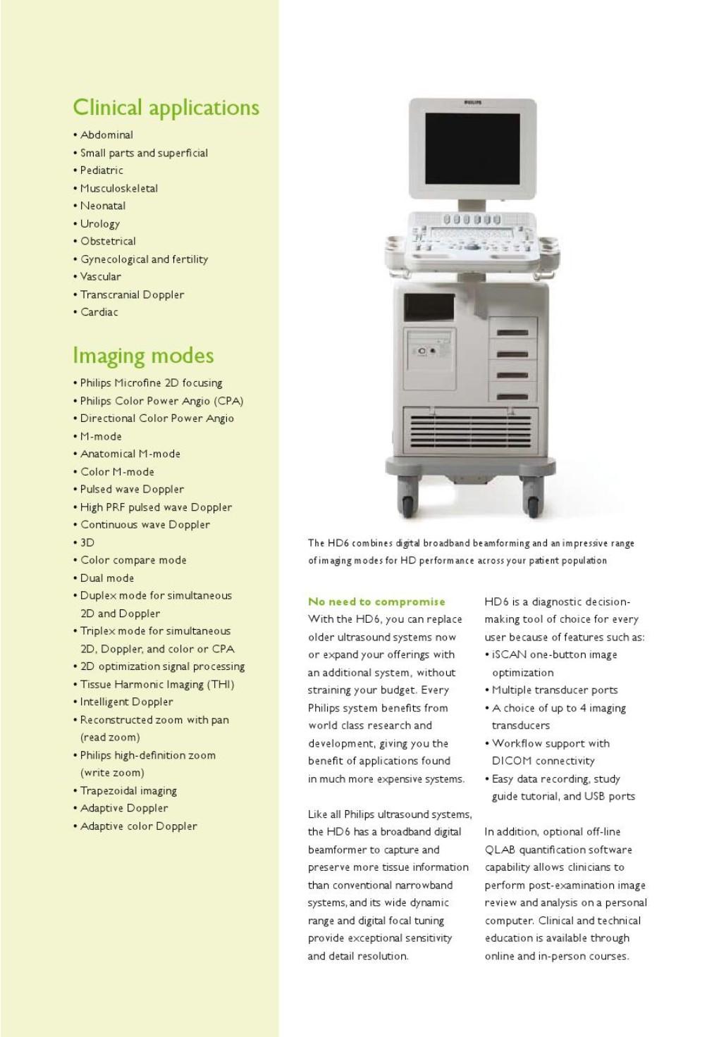 HD6 - Turimed Tıbbi Cihazlar,Philips Ultrason,Philips Hastabaşı